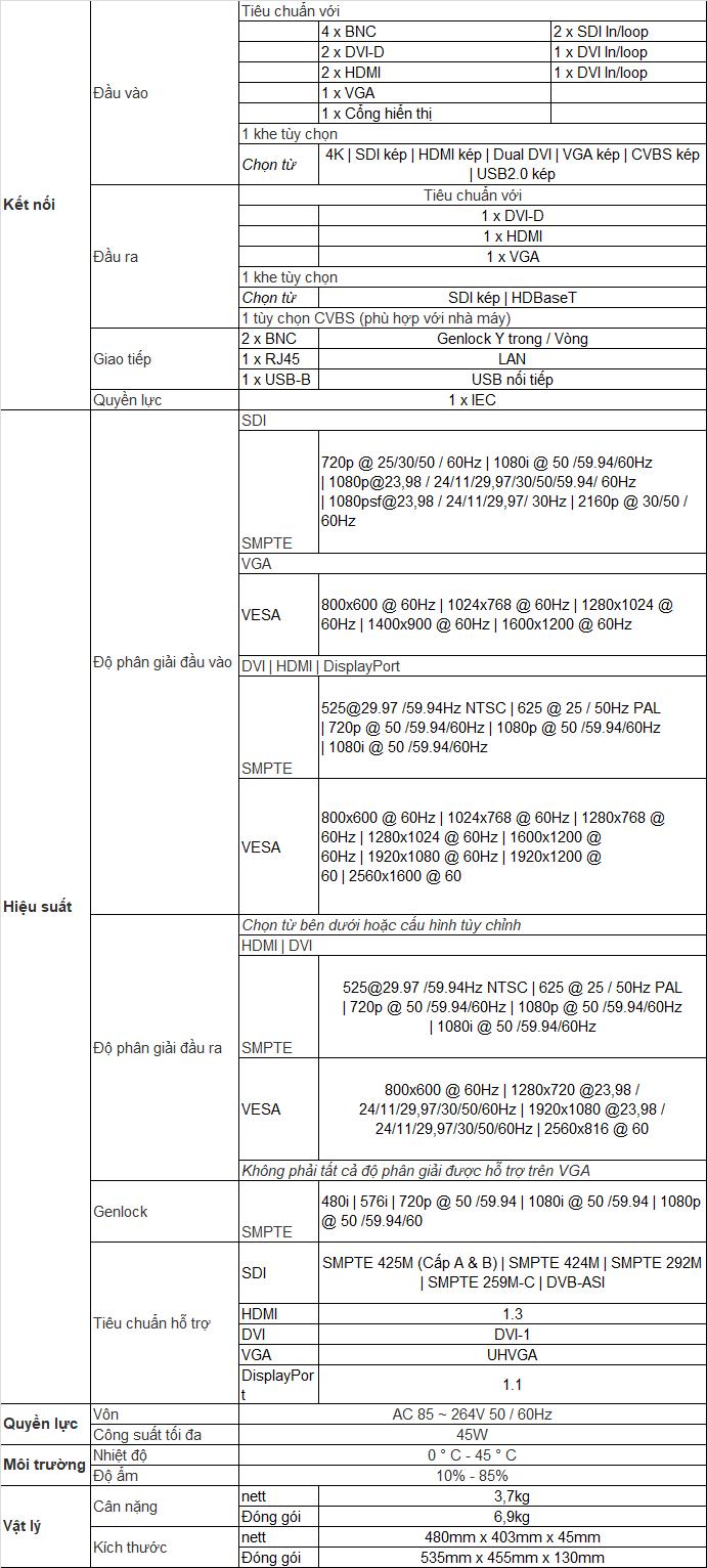 Bộ xử lý hình ảnh VSP628pro