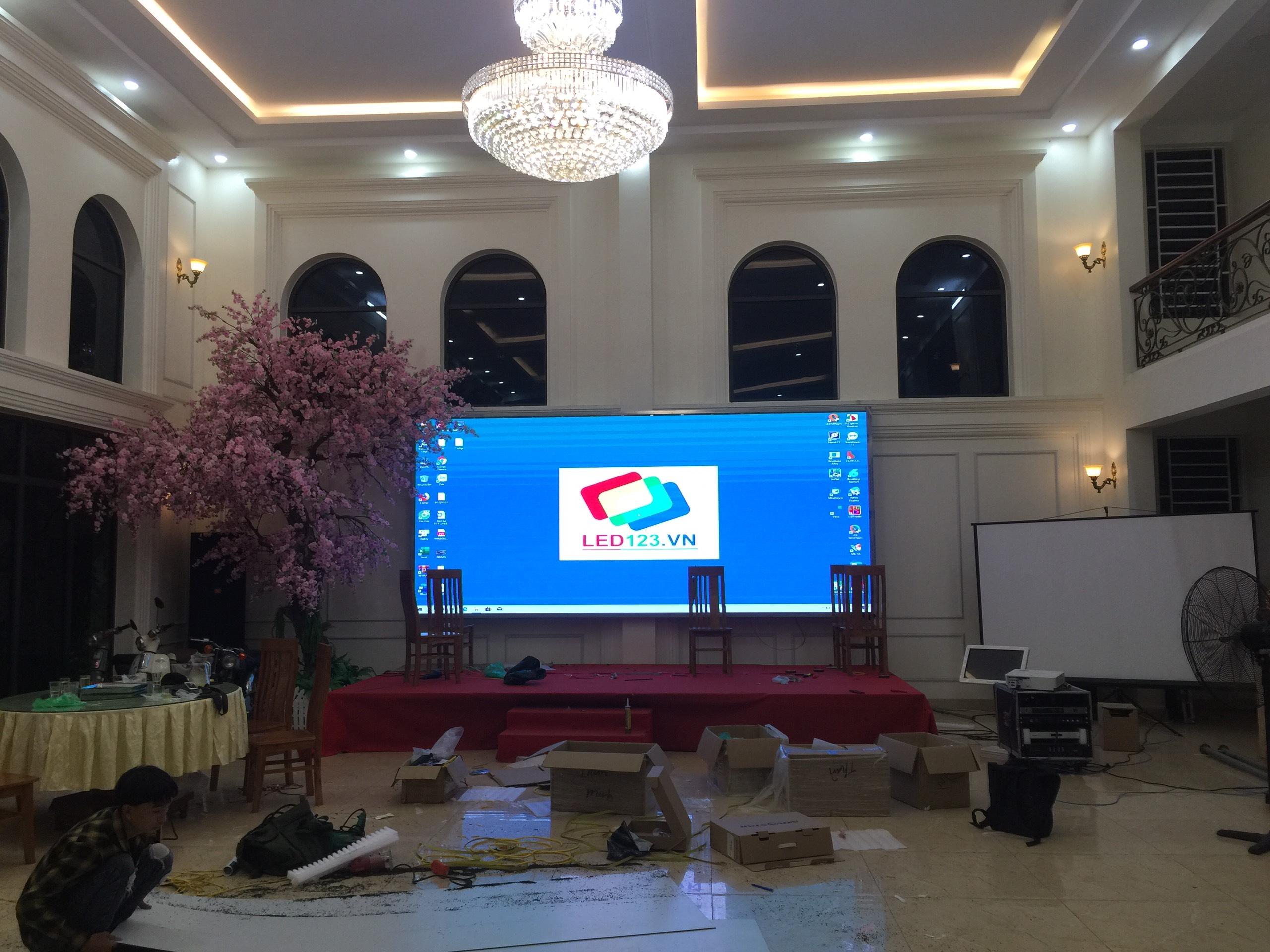 Màn hình Led P4 indoor tại thành phố Phúc Yên
