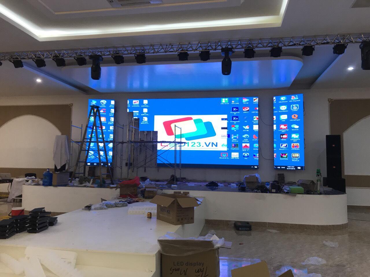 Thi công màn hình Led P4 SreenShenzhen tại nhà hàng Phố Mới - Tứ Kỳ - Hải Dương led123