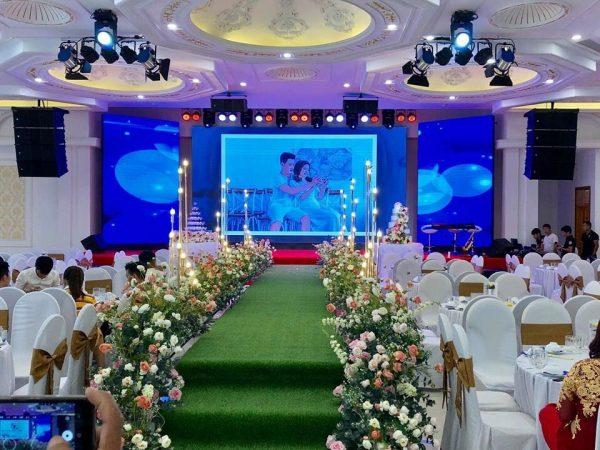 màn hình Led P4 Screen Shenzen tại nhà hàng tiệc cưới tại Nhà Hàng Diamond Place led123